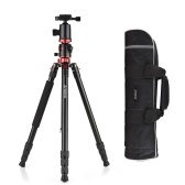Andoer 76 Inch Camera Tripod Portable Aluminium Alloy Tripod Stand with Carry Bag 1/4 Inch Scew Quick Release Plate Transverse Center Column 360 Degree Ball Head 22lb Max Load