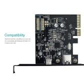 dodocool USB 3.1 Gen II (10 Gbps) tipo C e tipo A 2 portas PCI Express PCI-E-Card para PC Desktop