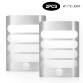 PIR Lâmpada de parede Luz noturna LED Sensor de movimento Luzes Movimento ativado LED Arandela recarregável Luz branca
