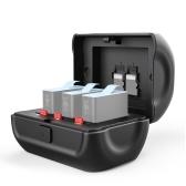 Ulanzi 3 Steckplatz Action Kamera Batteriespeicherhalter Case Box