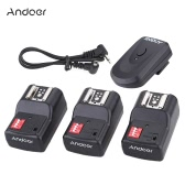 Andoer 16 Channel Wireless Remote Flash Trigger Set 1 Transmitter + 3 Receivers + 1 Sync Cord for Canon Nikon Pentax Olympus Sigma Sunpak Vivitar Neewer YOUNGNUO Speedlite