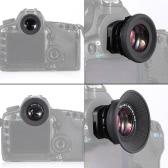 1,08 x-1,60 x Zoom DSLR caméra Photo œilleton Eye Cup oculaire loupe 6 Ports Type pour Canon Nikon Pentax Sony Olympus Fujifim Samsung Minolta
