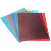 6pcs 25 * 20cm Transparent Lighting Color Correction Gel Sheets Filter Set for Flash Light Speedlite