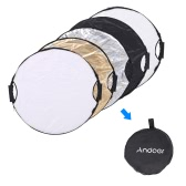 Andoer 60cm 5in1 Round Collapsible Multi-Disc Portable Circular Photo Photography Studio Video Light Reflector