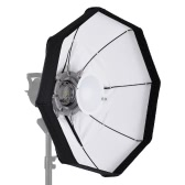 8-Pole 60cm White Foldable Beauty Dish Softbox with Bowens Mount for Studio Strobe Flash Light