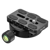 Andoer KZ-40 Universal Aluminum Alloy Tripod Head Disc Clamp Adapter w/ PU-70 Quick Release Plate Compatible for Arca Swiss