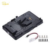 Rolux RL-IS2 V-mount V-lock DIY Power Supply Battery Plate for Sony BMCC BMPCC Camcorder Monitor LED Video Light