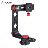 Andoer PH-720B 720° Panoramic Head Aluminium Alloy with Arca-Swiss Standard Ball Head Quick Release Plate Carry Bag Max. Load 10kg for Nikon Canon Sony DSLR Camera