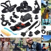49-in-1 Accessories Kit for GoPro Hero5 Black Hero5 Session Hero 4 Hero Session Accessory Bundle Set for GoPro Hero3+ 3 2 1 SJ4000 Cam Xiaomi Skiing Cycle Hiking Outdoor Sport Accessories