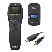 YouPro MC-292 DC2 2.4G Wireless Remote Control LCD Timer Shutter Release Transmitter Receiver 32 Channels for Nikon D750 D7200 D7100 D7000 D610 D600 D5500 D5300 D5200 D5100 D5000 D3300 D3200 D3100 D90 DF P7700 Camera