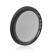 ZOMEI 52mm Ultra Slim Fader Variable ND2-400 Filtre ND à densité neutre réglable ND2 ND4 ND8 ND16 ND32 à ND400 pour Nikon D5300 D5200 D5100 D3300 D3200 D3100 Appareils DSLR