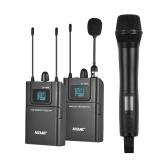 ACEMIC DV100SET Zweikanaliges UHF-Funkmikrofonsystem