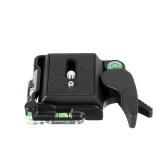 Aluminium Alloy Tripod Head Clamp Adapter with Quick Release QR Plate 1/4 Inch Screw Bubble Level for Camera DSLR Triopd Monopod Ballhead Camera Accessories