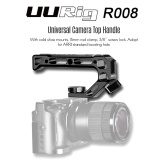 UURig R008 Universal Camera Top Handle Handgrip with Cold Shoe Mounts 15mm Rod Clamp 3/8 Inch Screw Lock Adopt for ARRI Standard Locating Hole for Microphone Lights Monitor for Camera Rig Cage