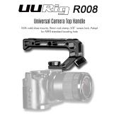 UURig R008ユニバーサルカメラトップハンドルハンドグリップ付きコールドシューマウント15mmロッドクランプ3/8インチスクリューロックARRI用標準取り付け穴マイクライト用カメラリグケージ用モニター