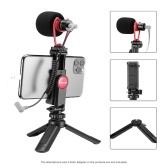 ulanzi Smartphone Video Kit 1 with Mini Desktop Tripod + Phone Holder + Video Microphone