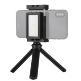 Téléphone portable Live Set Portable Pocket Self-Timer Fill Light & Phone Clamp Bracket Mount & Desktop Tripod