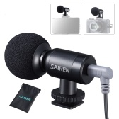 SAIREN Nano Super Cardioid Condenser Microphone Mini Mic 3.5mm TRS TRRS Audio Cable