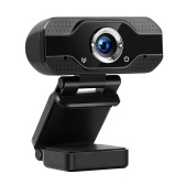 1080P HD Webcam USB Laptop Computer Camera Clip-on PC Web Camera Built-in Microphone