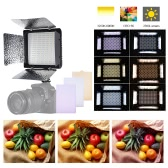 Temperatura Andoer W368-Ⅱ color dual LED luz video de 3200K-6000K Brillo ajustable Fotografía Luz 368 LED Panel de luz continua con montaje de cámara y Filtros