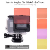 Nurkowanie Zestaw filtra obiektywu GoPro Hero 5 Camera Używany z Wodoszczelna obudowa tylko