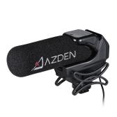 AZDEN SMX-15パワード・ビデオ・マイクロフォン・マイクスーパー・カーディオイド・ポーラー・パターン(衝撃吸収コールド・シュー・マウント付)Canon NikonソニーDSLRカメラ・カムコーダー用1/4インチ・ネジ穴