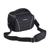 Andoerスタイリッシュな多機能カメラショルダーバッグ - ブラック