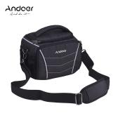 Andoer Stylish Multi-function Camera Shoulder Bag-Black