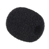 Andoer Mini Lapel Headset Microphone Windscreen Mic Foam Cover, Black 10-Pack