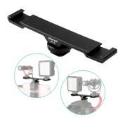 Ulanzi PT-2 Double Hot Shoe Mount Extension Bar Dual Bracket for DV DSLR Camera Smartphone Mic LED Light