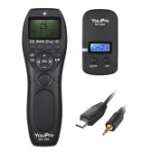 YouPro MC-292 S2 2.4G Wireless Remote Control LCD Timer Shutter Release Transmitter Receiver 32 Channels for Sony A7 A7II A7S A7SII A7RII A6300 A6000 A5100 A5000 A3000 HX3000 HX50 HX60 RX100 RX100II RX10III A58 NEX-3NL DSLR Camera