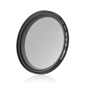 ZOMEI 55mm Ultra Slim Variable Fader ND2-400 Filtro de densidad neutra ND ND2 ND4 ajustable ND8 ND16 ND32 a ND400 para Sony 18-55mm 55-200mm 55-250mm Lente