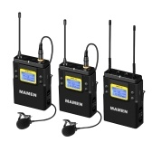 MAMEN WMIC-01 Sistema microfonico digitale wireless a doppio canale UHF professionale