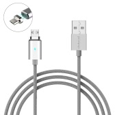 dodocool 3.9ft / 1,2 m Odłączany Magnetic Micro USB Charge & Sync Cable z LED Indicator srebrny