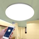 85V-265V 48W Lampe de plafond LED intelligente WiFi Fonction de mémoire de contrôle vocal à distance Surface Mount Bedroom Home Dimming Plafonnier