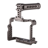 Andoer Aluminum Alloy Camera Cage Kit with Video Rig Top Handle Grip Replacement for Sony A7R III/ A7 II/ A7III