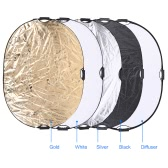Andoer 90 * 120cm 5 in 1 Runde Collapsible Multi Disk Portable Circular Foto Fotografie Studio Video Light Reflektor