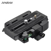 Andoer Video Camera Tripod Quick Release Clamp Adaptateur avec Quick Release Plate Compatible pour Manfrotto 501 500Ah 701HDV 503HDV Q5 Head