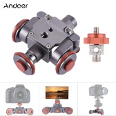 Andoer Electric Motorized 3-Wheel Video Pulley Car Dolly Rolling Slider Skater for Canon Nikon Sony Camera Camcorder for iPhone 7/7plus/6/6s Samsung Huawei Smartphone
