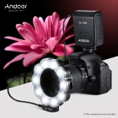 Andoer SL-102C GN15 Macro LED Ring Round flash Fill-in Lampe Luminosité écran LCD réglable pour Canon Nikon Pentax Olympus DSLR appareil photo 40.5mm / 52mm / 55mm / 58mm / 62mm / 67mm / 72mm / 77mm Studio Photography
