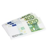 現実的な偽の遊びお金の写真ポンドユーロノートの訓練収集銀行券の両面印刷大気小道具を収集する