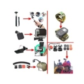 Kit de accesorios 14in1 para GoPro Hero5 Black Hero5 Session Hero 4 Hero Session GoPro Hero3 + 3 2 1 SJ4000 Cam Xiaomi Skiing Cycle Senderismo Accesorios para deportes al aire libre