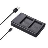 FB Dual USB LP-E17 Kamera Ladegerät für Canon 750D 760D Rebel T6i T6 EOS M3 / M5 / M6 / 800D / 77D