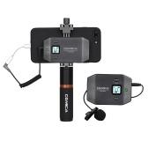 COMICA CVM-WS50 (B) 6-Kanal UHF kabelloses Smartphone Lavalier-Mikrofonsystem