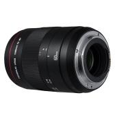 YONGNUO YN60mm F2 MF 0.234m Objetivo macro Objetivo manual para cámara Canon EOS 70D 5D2 5D3 600D DSLR