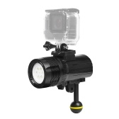 SHOOT XTGP460 1500 Lumen Underwater Diving Torch Flashlight Waterproof 60m/197ft Rechargeable Dimmable Outdoor LED Video Light for GoPro Hero 6/5/4/3+/3 Action Camera