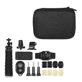 Andoer Outdoor Sports Action Kamera Zubehör Kit 18 in 1 für AKASO EK7000 / EK7000 Plus / Brave 4 / V50 / V50 Pro / CAMPARK / GOPRO 7 / Hero 6/5 Xiaoyi Action Kameras