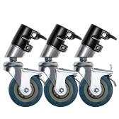 Studio de photographie multifonction professionnel 3 roues éclairage lourd Century C Stand accessoires de photographie de roue spéciale