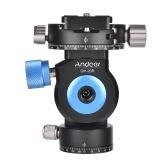 Andoer GT-20R Pan/Tilt Head CNC Aluminum Alloy Tripod Monopod Head 360 Degree Rotating