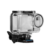 Transparent Sports Action Camera Waterproof Housing Case Protective Case Box Shell Protector with Mount Base Screw Underwater Depth 40 Meters/ 131ft for Swimming Diving Surfing Skiing for DJI Osmo Action